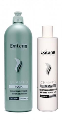 Шампунь придающий серебристый оттенок волосам(антижелтый) PLATA